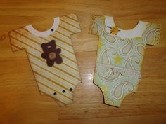 Runaway Crafting ONESIES CARD FOR BABY SHOWER