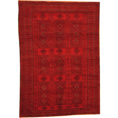 Herat Oriental Afghan Hand-knotted Semi-Antique Tribal Balouchi Red/ Navy Wool Rug (6'3 x 8'10) - Overstock™ Shopping - Big Discounts on Herat Oriental One of a Kind