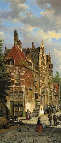 Willem Koekkoek- Dutch town