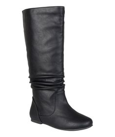 Journee Collection Black Jayne Wide-Calf Boot | zulily