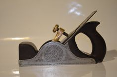 Rare Infill Smoothing Plane.Hand engraving by Mikhail Davydov.