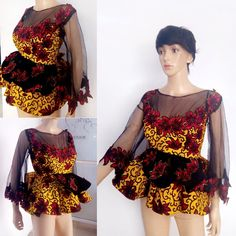 There's something very stylish and elegant about Ankara peplum tops, these beautiful designs will add that extra flare needed to take your style to a complete new level. Ankara Tops Blouses, Ankara Peplum Tops, African Blouses, Ankara Skirt And Blouse, Ankara Dress, African Dresses For Women, African Fashion Dresses, African Attire, African Wear