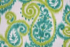 Richloom Caravan Ikat Paisley Drapery Fabric in Tourmaline $8.95 per yard