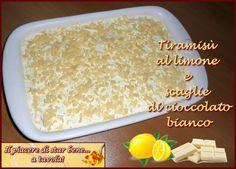Tiramisù al limone e scaglie di cioccolato bianco