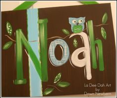 Hand Painted Custom Canvas Name Sign Personalized by ladeedahart, $49.99
