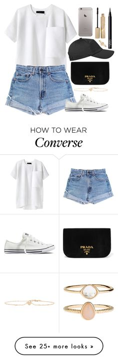 """Untitled #1575"" by karalyon on Polyvore featuring rag & bone, Levi's, Sydney Evan, Prada, Converse, NARS Cosmetics, Stila and Accessorize"