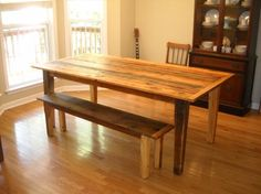6' Harvest /Farm Table built from reclaimed by jrobbinsbarnworks, $600.00
