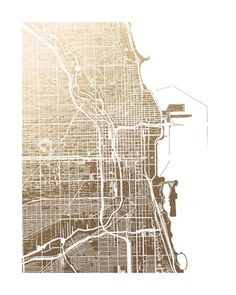 'Chicago Map' by Alex Elko Design on Minted.com for the living room