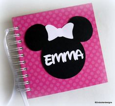 80 pages! $22 pink polka dot personalized disney autograph book