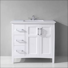 30 Inch Bathroom Vanity Cabinet White accanto contemporary 30 inch white finish bathroom vanity marble