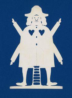 H.C. Andersen papirklip: Møllemand med hat