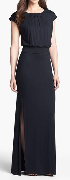 Long and Classy Black Maxi Dress
