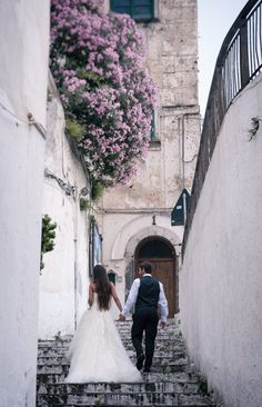 Atrani wedding by Alfonso Longobardi - the pretty, cobbled streets, staircases and alleyways of the tiny, characteristic, seaside town of  Atrani, Amalfi Coast