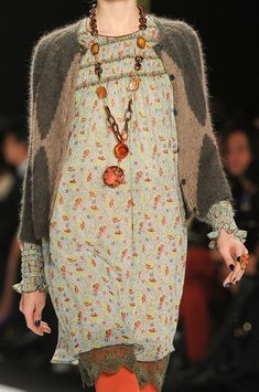 Anna Sui Fall 2012..LOVE this so much...not my colors...but the vibe, feel, textures, elements...so lovely!