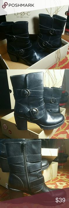NWT boc Boots Size 9.5 brand new black boc boots. Born Concept  Shoes Heeled Boots