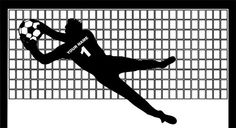 Goalkeeper Wall Decal Soccer Wall Decal by Stckercenter on Etsy