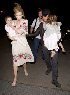 Keith Urban, Nicole Kidman and Daughters Sunday and Faith Look Tired at LAX Airport