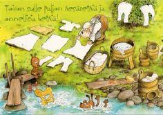Художник-иллюстратор и писатель Mauri Kunnas (146 работ) Finland, Bujo, Roots, Scandinavian, Illustrations, Bathroom, Children, Artist, Painting