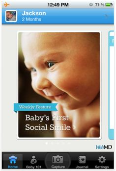 WebMD Baby App for new moms - for iPhone and now for Android.