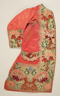 Waistcoat 1733, French, Made of silk