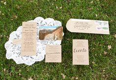 Handmade Wedding Adding a postcard and other little details to you wedding invitations can have beautiful results!