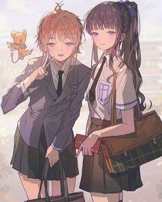 Kero, Sakura and Tomoyo from Card Captor Sakura Manga Girl, Art Manga, Anime Art Girl, Anime Girls, Cardcaptor Sakura, Syaoran, Anime Best Friends, Friend Anime, Anime Chibi