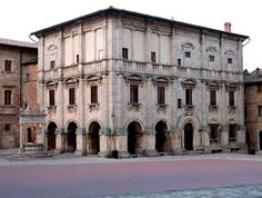 The Palazzo Nobili-Tarugi is a nobiliary palace in Montepulciano, located in the Piazza Grande, in front of the Cathedral (Duomo) of Montepulciano. The Palace was attributed to Antonio da Sangallo Il Vecchio.