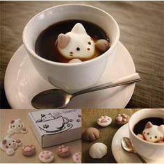 CafeCat. Cute Cat Marshmallow Set