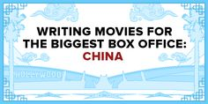 Writing Movies for the Chinese Box Office - How can English-speaking screenwriters break into China'squickly growing entertainmentmarket? Since we started ScreenCraft a few years ago, I've traveled toChina several times in search of an answer to this question....