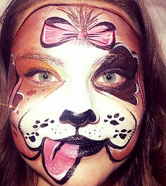 Love Animals and Face Painting! Especially dogs!   #dogs #puppies #cute #facepainting #facepaint #Art #crafts #family #fun #creative #birthday (http://www.enchantedfacesbydalton.com/)
