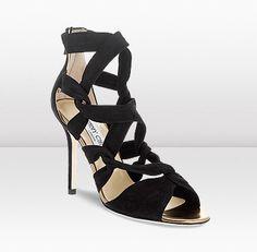 Kami elegant sandal by Jimmy Choo in black suede
