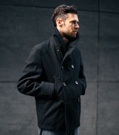 Inventory Magazine - FW13-001 Engineered Garments Pea Jacket - Dark Navy 24 oz. All Wool Melton $825.00