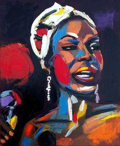 Nina Simone in Pallet Knife by Lili Bernard