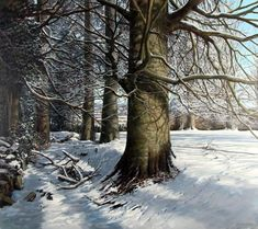 Snow Shadows by Eugene Conway at Gormleys Fine Art gallery. Leading dealers in Irish art since 1990.