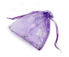 100pcs Jewelry Dark Purple Butterfly Organza Drawstring Gift Bags 4.5*6 Inch >>> Continue to the product at the image link. (This is an affiliate link and I receive a commission for the sales)