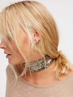Sienna Sequin Choker | Statement sequined choker perfect for after-hours accessorizing. Featuring lobster clasp closure for an easy, effortless fit.