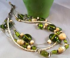 Image of Green Multi Strand Necklace