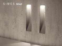 Cement foot- and walkover light GHOST by SIMES design Marc Sadler