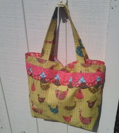Birds of a feather shop together tote by 3anniemouse3 on Etsy, $25.00