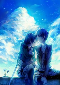 couple   anime style   blue   www.topit.me