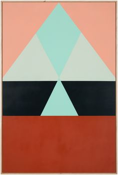 Stewart's latest body of work springs from the contrasting of simple shapes and colours, shifting and repositioning them in order to produceoptical effects and clashes within the layout. Her paint...