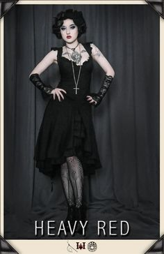CURIOUS NOTION FLUTTER GOTHIC TEA DRESS - I'm thinking this could be a possibility for our family themed halloween costumes. At least there's the chance I'd wear it again! - Heather Scott