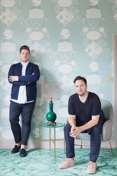 A brand new collection from the 2 Lovely Gays, welcome the Perry Rise wallpaper collection, in collaboration with Graham & Brown. Commercial Interior Design, Interior Design Studio, Commercial Interiors, Interior Design Services, New Product, Product Launch, Graham Brown, East London, Victorian Homes