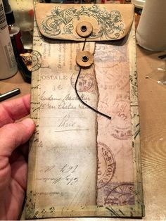 close-up of page insert in compendium of curiosity altered book.