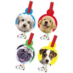 Dog Party Blowouts (8)- Party Time - Favors Posh Puppy Boutique
