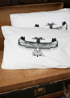 Reverie - Hand Screen Printed Pillow Case Pair - 200TC - by Bark Decor.