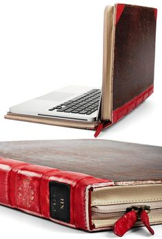 Awesome laptop cover. Looks like an old book. I went to the website and it was something different. I searched it on Google and found that Amazon sells it. Its made for the MacBook Pro laptop.