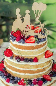 Naked Cake - wedding Cake - bolo de casamento rústico