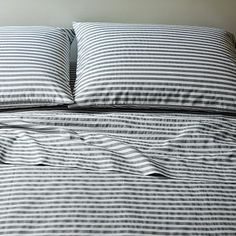 west elm striped bedding