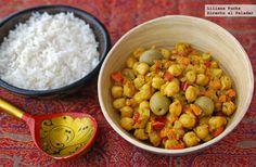 Garbanzos salteados a la marroquí // Sautéed Moroccan chickpea recipe in spanish
